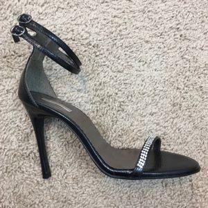 Black Heels with Rhinestones - Size 7